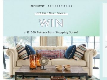 Pottery Barn + Refinery29 Sweepstakes