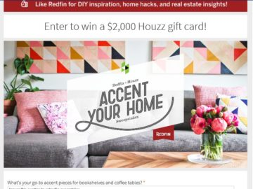 Redfin Accent Your Home Sweepstakes