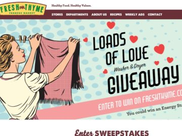 Fresh Thyme Loads Of Love Washer and Dryer Sweepstakes
