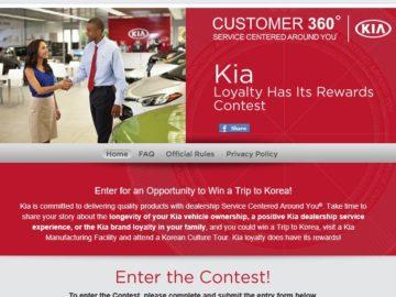 The Kia Loyalty Has Its Rewards Contest