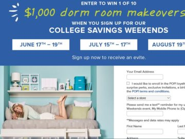 The Container Store $1,000 Dorm Room Makeover Sweepstakes