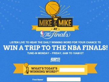 Mike & Mike at the Finals 2016 Sweepstakes