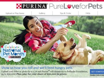 The Purina Roll Over Hunger Instant Win Game