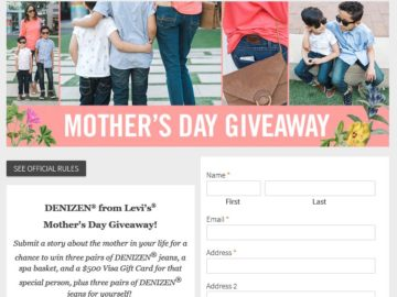 The DENIZEN Jeans Mother's Day Giveaway Contest