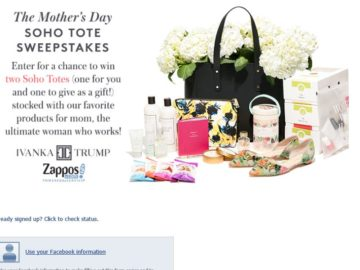 The Ivanka Trump and Zappos Mother's Day Sweepstakes
