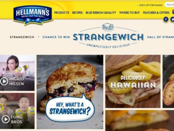 The Hellmann's #Strangewich Instant Win Game and Sweepstakes