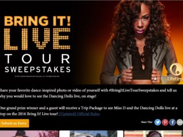 Bring It! Live Tour Trip Sweepstakes