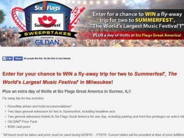 The Six Flags Summerfest Sweepstakes