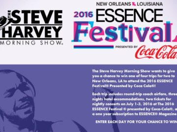 The Steve Harvey Morning Show and Creme of Nature's Flyaway Sweepstakes