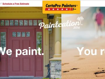 CertaPro Painters Paintcation Sweepstakes
