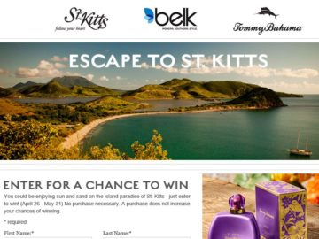 The Tommy Bahamas Escape to St. Kitts Sweepstakes
