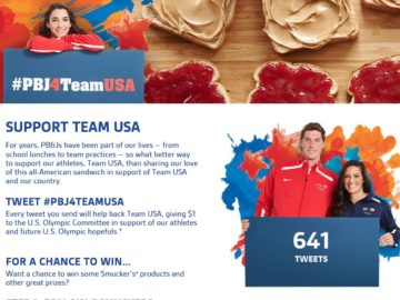 The PBJ4TeamUSA Sweepstakes