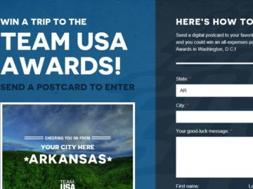 Team USA Awards Ceremony Sweepstakes