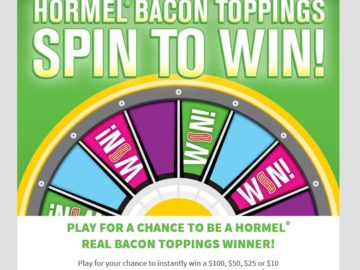 The HORMEL Bacon Toppings Sweepstakes