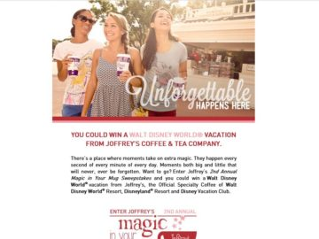 """The """"Joffrey's Magic in Your Mug"""" Sweepstakes"""