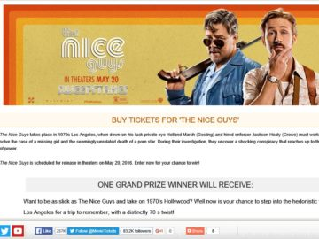 "MovieTickets.com's ""The Nice Guys"" Sweepstakes"