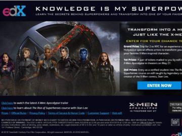 The edX X-Men Apocalypse Sweepstakes