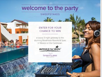 The AM Resorts Secrets Perfect Escape March 2016 Sweepstakes
