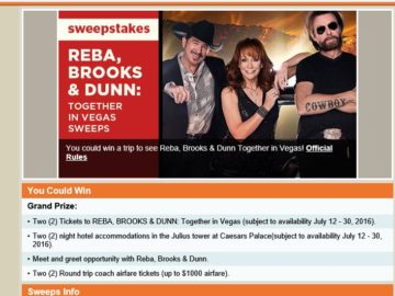 CMT Reba, Brooks & Dunn: Together in Vegas Sweepstakes