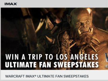 The Warcraft IMAX Sweepstakes