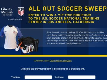 The Liberty Mutual Insurance All Out Soccer Sweepstakes
