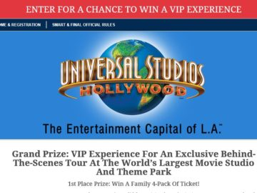 Universal Studios Hollywood S&F Sweepstakes – Select States
