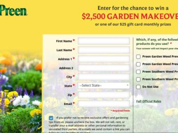 The Preen $2,500 Garden Makeover Sweepstakes
