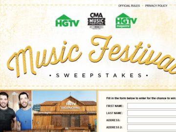 HGTV CMA Music Festival Sweepstakes