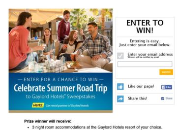 Celebrate Summer Road Trip to Gaylord Hotels Sweepstakes