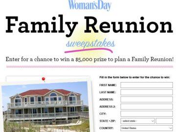 Women's Day Family Reunion Sweepstakes