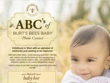 ABC's of Burt's Bees Baby Photo Contest