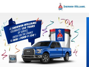 """The Sherwin-Williams Company """"150th Celebration"""" Sweepstakes"""