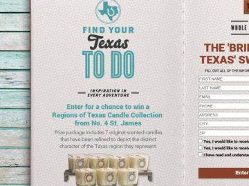 Bringing Home Texas Sweepstakes