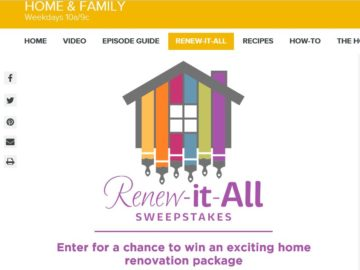 """The Hallmark Channel """"Renew-It-All"""" Sweepstakes"""