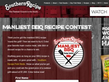 The Southern Recipe Manliest BBQ Recipe Contest