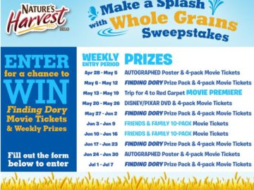 Make a Splash with Whole Grains Sweepstakes