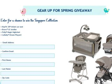The Chicco Gear Up for Spring Giveaway Sweepstakes