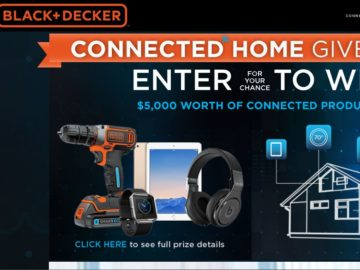 The Black+Decker SMARTECH Connected DIY Giveaway Sweepstakes