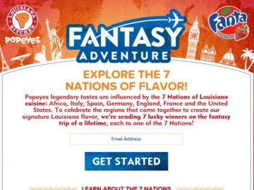 The Popeyes Fantasy Adventure 2016 Sweepstakes