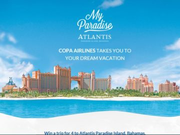 Copa Airlines My Paradise Atlantis Sweepstakes