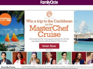 Family Circle Sail Away with MasterChef Sweepstakes