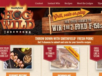The Smithfield Hog Wild Throwdown Recipe Contest and Sweepstakes