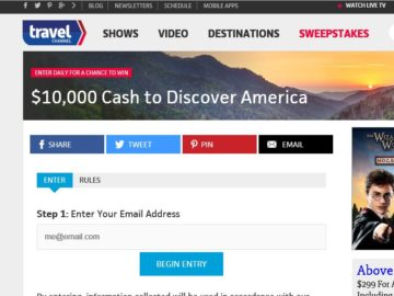 Travel Channel Discover America Sweepstakes