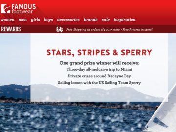 The Famous Footwear Stars, Stripes & Sperry Sweepstakes