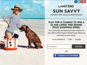 Lands' End Sun Savvy Sweepstakes