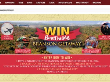The BootDaddy Branson Getaway Contest