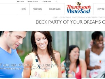 """The Thompson's WaterSeal """"Deck Party of Your Dreams"""" 2016 Contest"""
