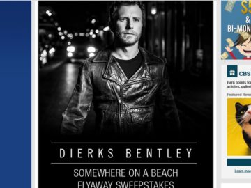 The Dierks Bentley Somewhere on a Beach Sweepstakes