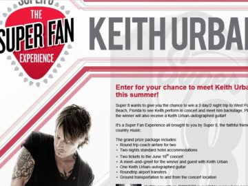 Keith Urban Super Fan Experience Sweepstakes