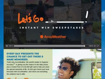 The AccuWeather Let's Go Sweepstakes